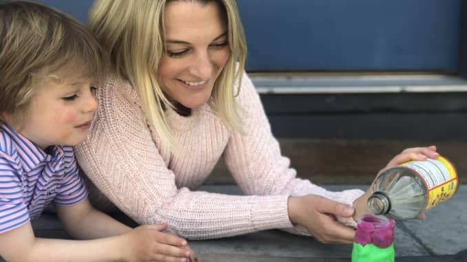 Amy Molk and her son, Teddy