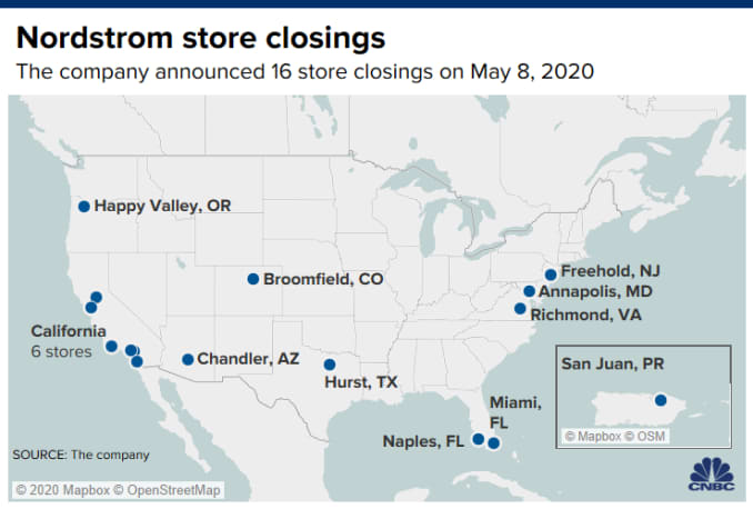 Nordstrom Store Closures Here Are The 16 Stores Expected To Shut