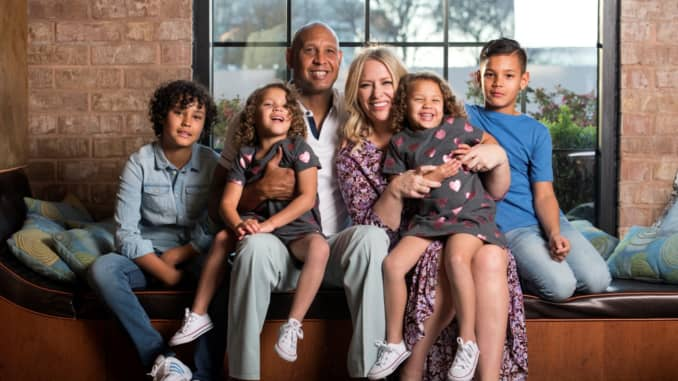 Chatelle Lynch, HR head at McAfee, with her family