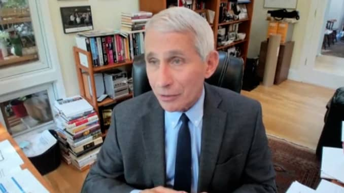 Dr. Anthony Fauci speaking during the U.S. Senate committee on Health, Education, Labor and Pensions hearing on May 12th, 2020.