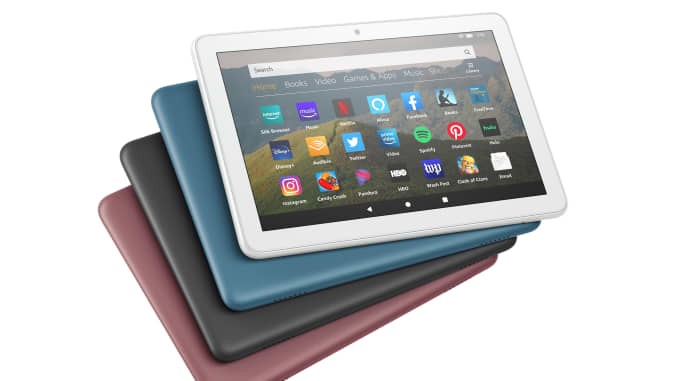 Amazon's Fire 8 tablets.