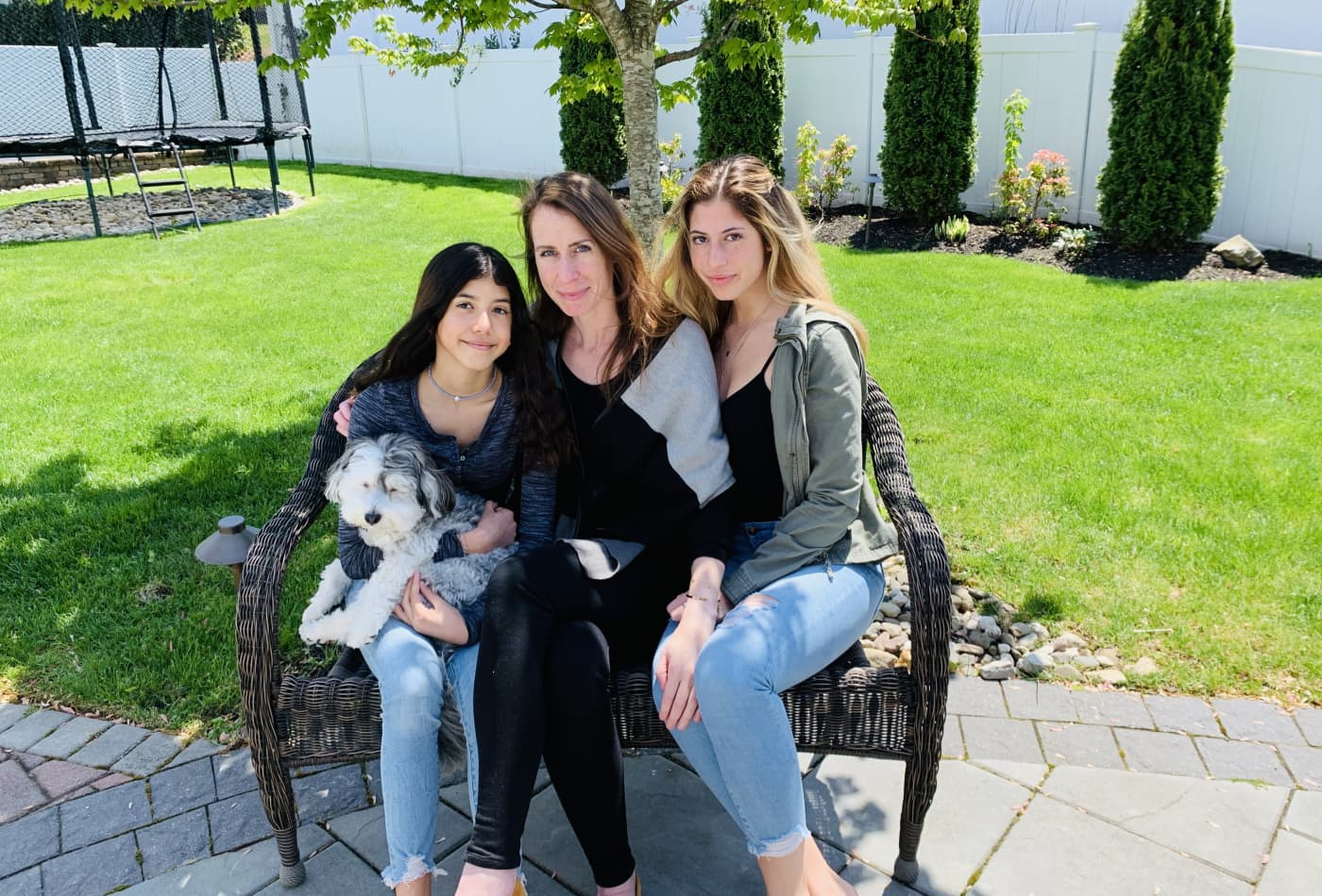 Alison Fischer and her two daughters
