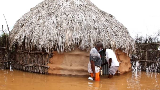 Residents in Mandera County, Kenya, assess the damage from the latest round of flooding which has devastated the region.