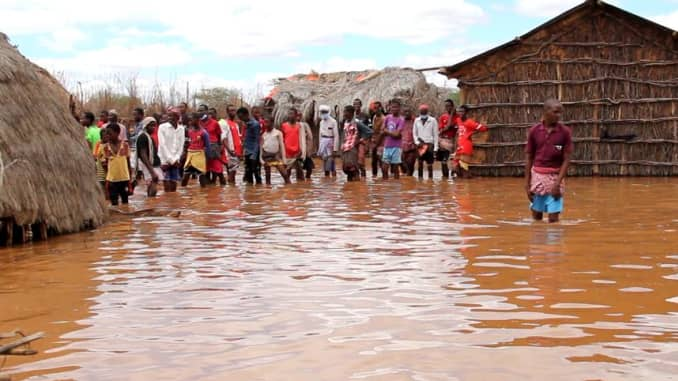 Residents in Mandera County, Kenya, displaced by flooding.