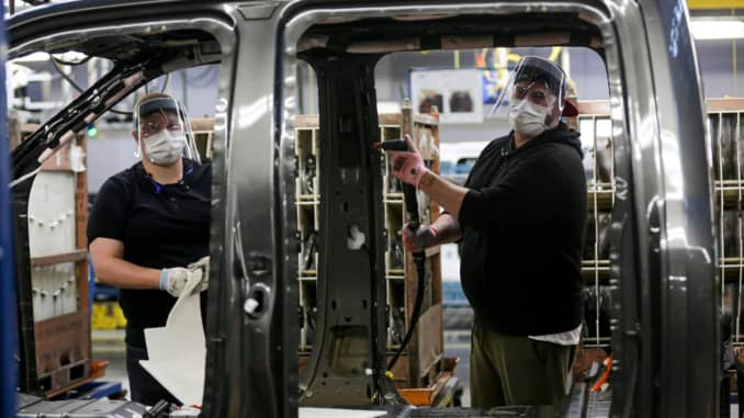 Ford production resumes at Dearborn Truck plant