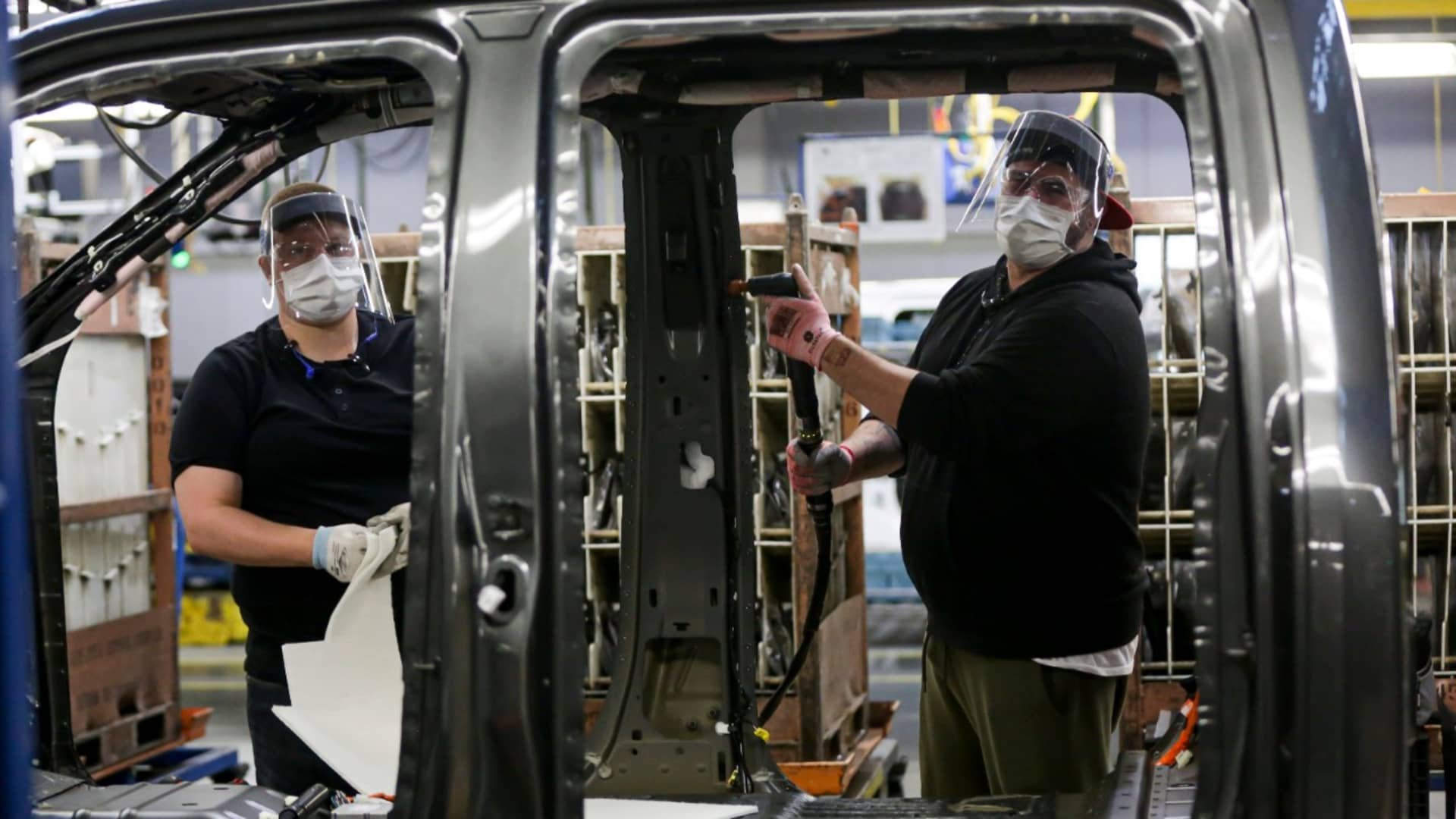 Ford started resuming vehicle production in the U.S. on May 18, 2020 with new coronavirus safety protocols such as health assessments, personal protective equipment and facility modifications to increase social distancing.