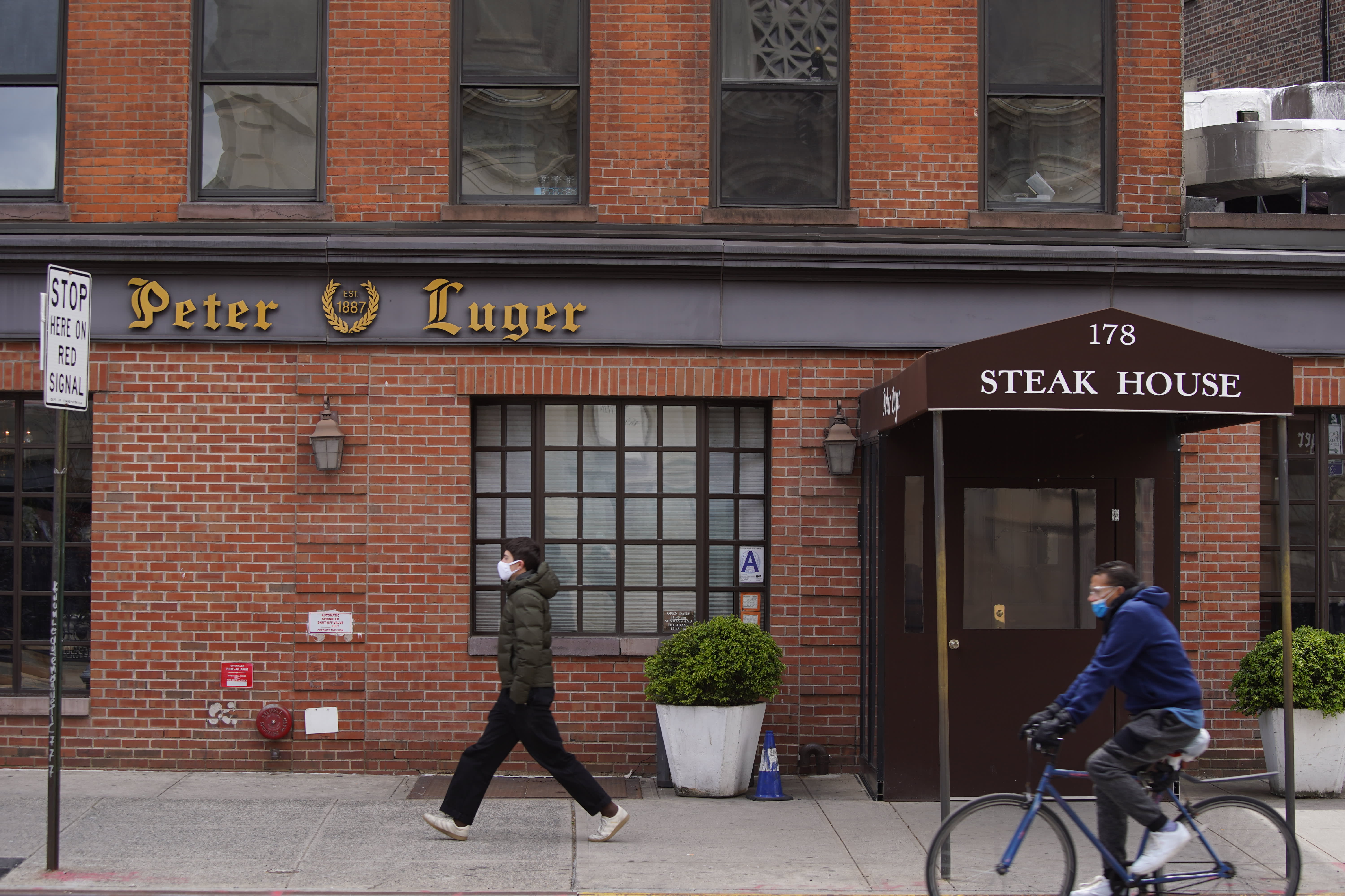 Peter Luger Steak House's offering delivery, accepting credit cards