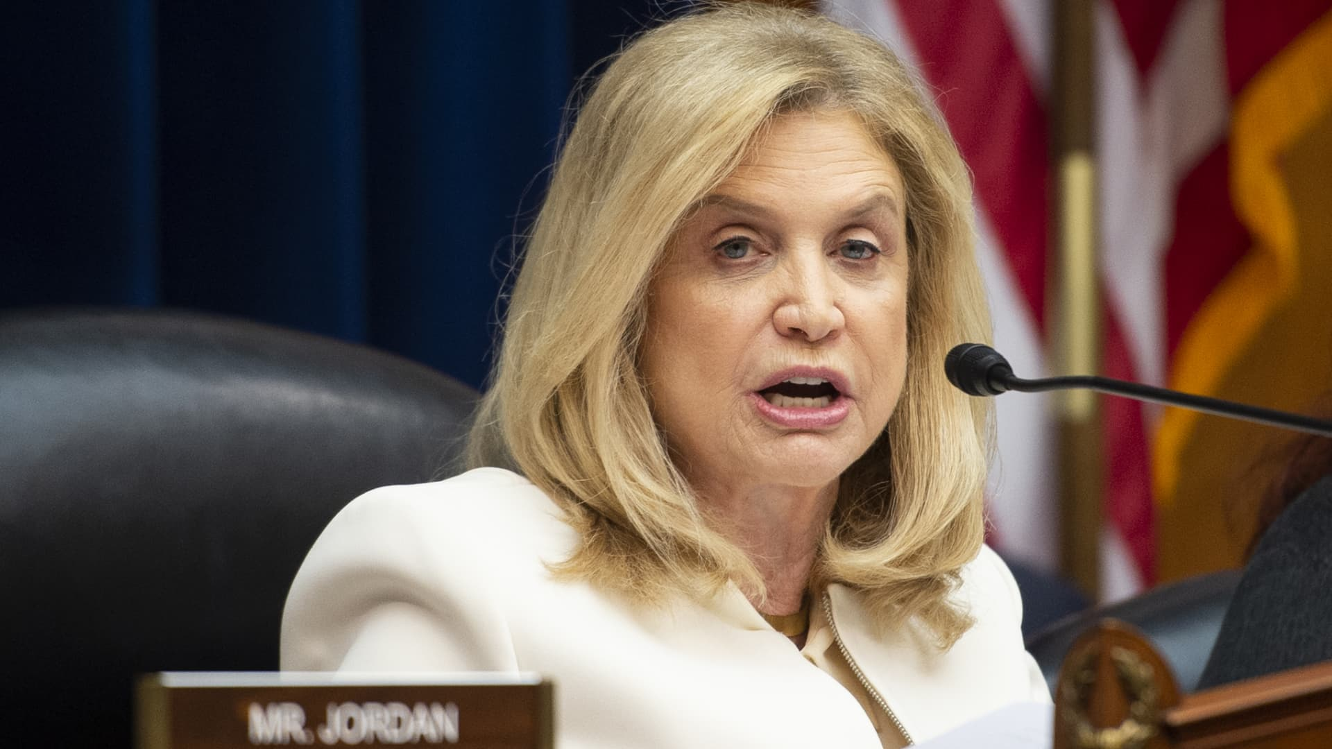Chairwoman Carolyn Maloney, D-N.Y., speaks during a House Oversight and Reform Committee hearing on D.C. statehood on Tuesday, Feb. 11, 2020.