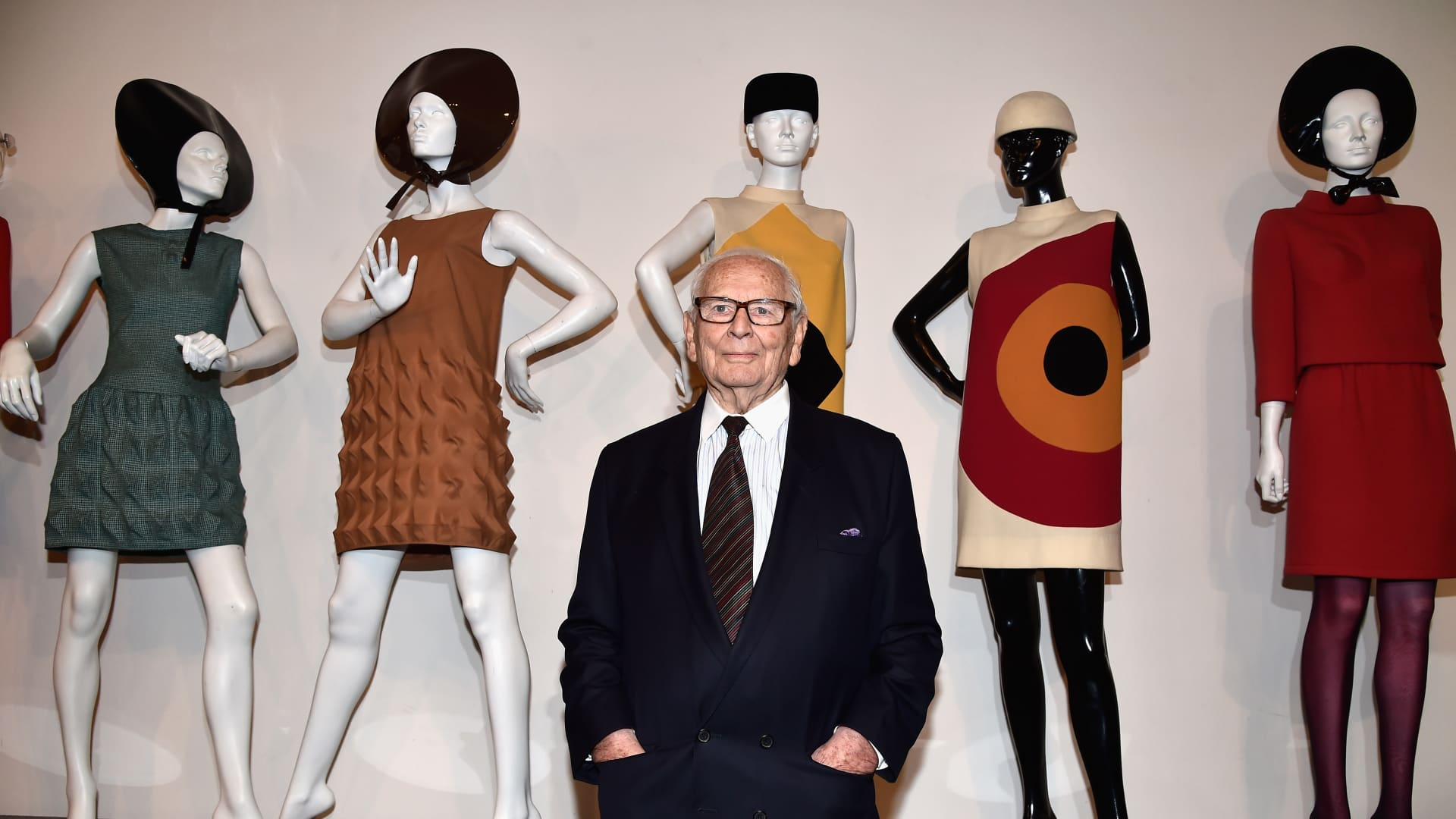 Pierre Cardin at opening of Musee Pierre Cardin on November 13, 2014 in Paris.