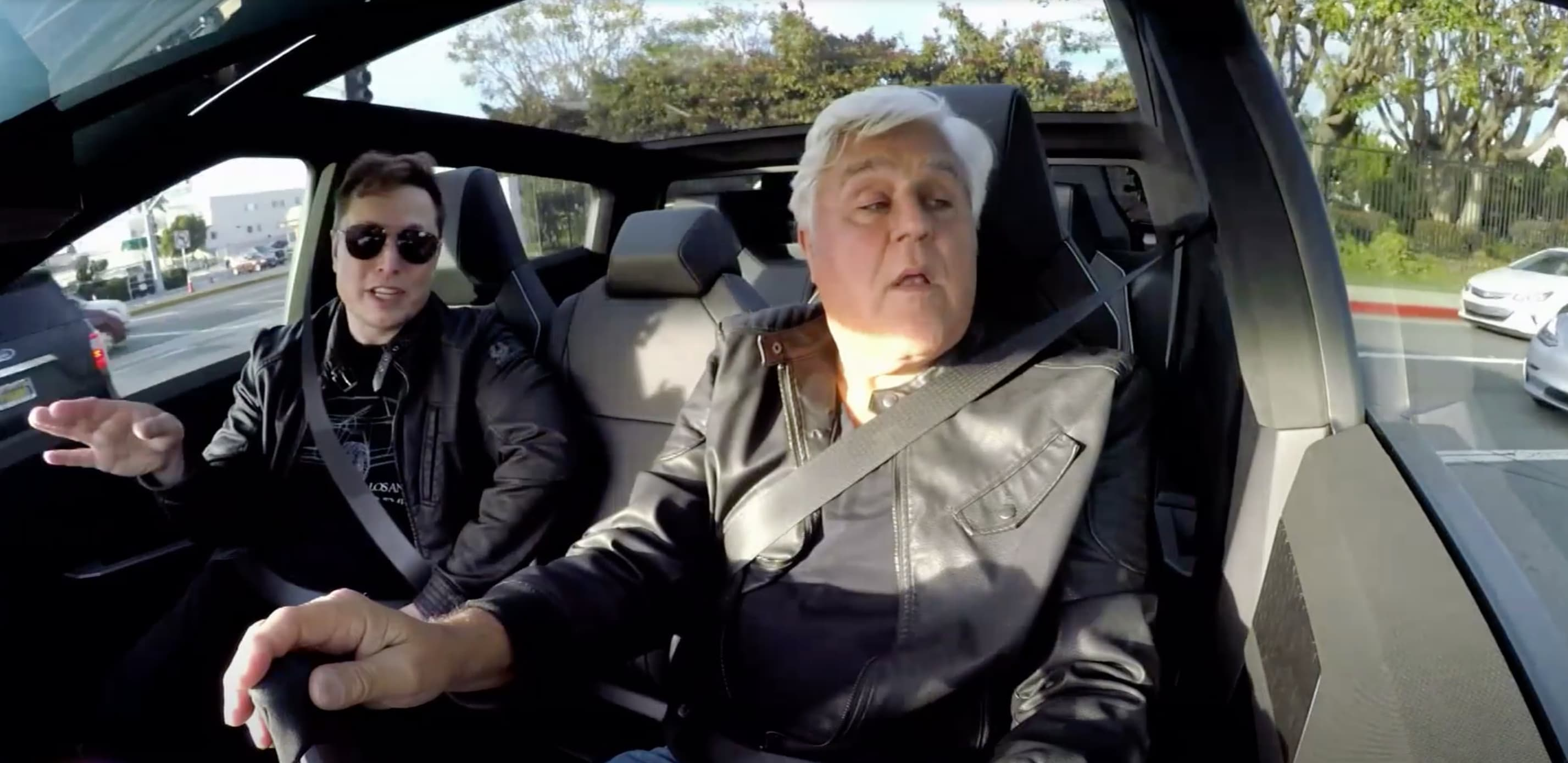 Jay Leno What It S Like To Drive A Tesla Cybertruck With Elon Musk
