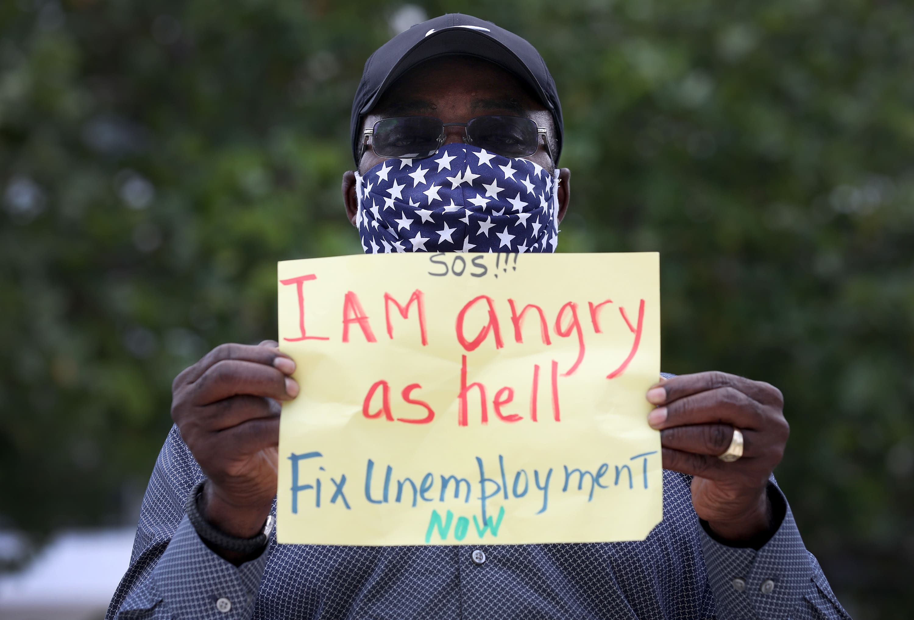 Staggering jobless claims persist; global deaths near 450,000
