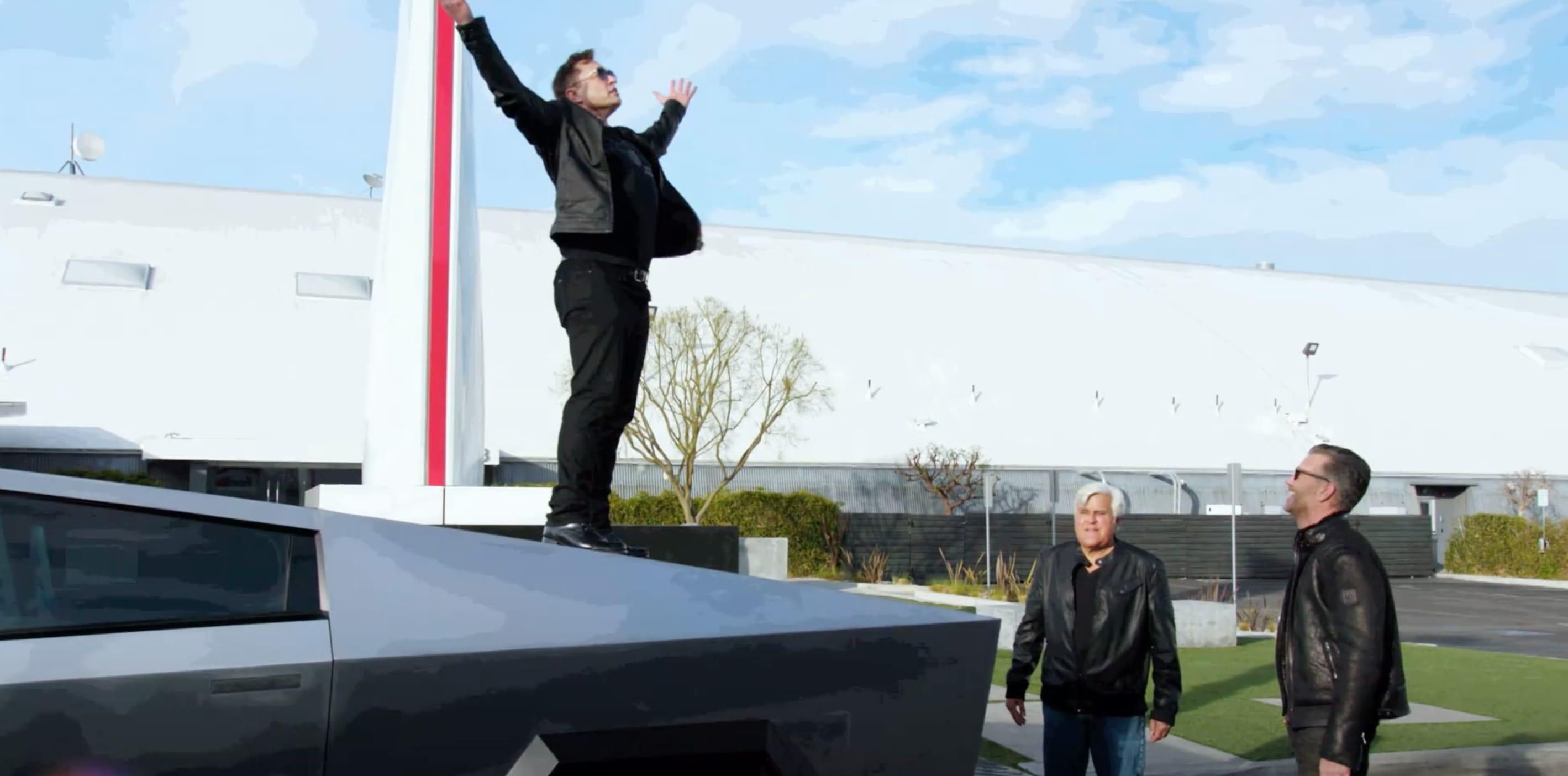 Elon Musk, Jay Leno, and the 2021 Cybertruck