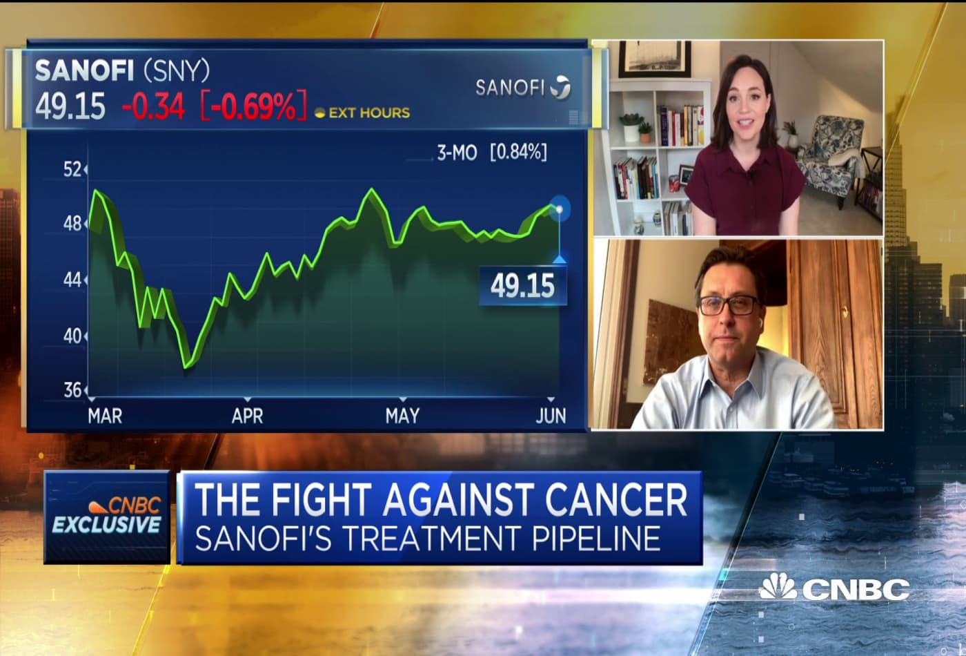 Sanofi CEO Paul Hudson on cancer research, Covid-19 vaccine and more