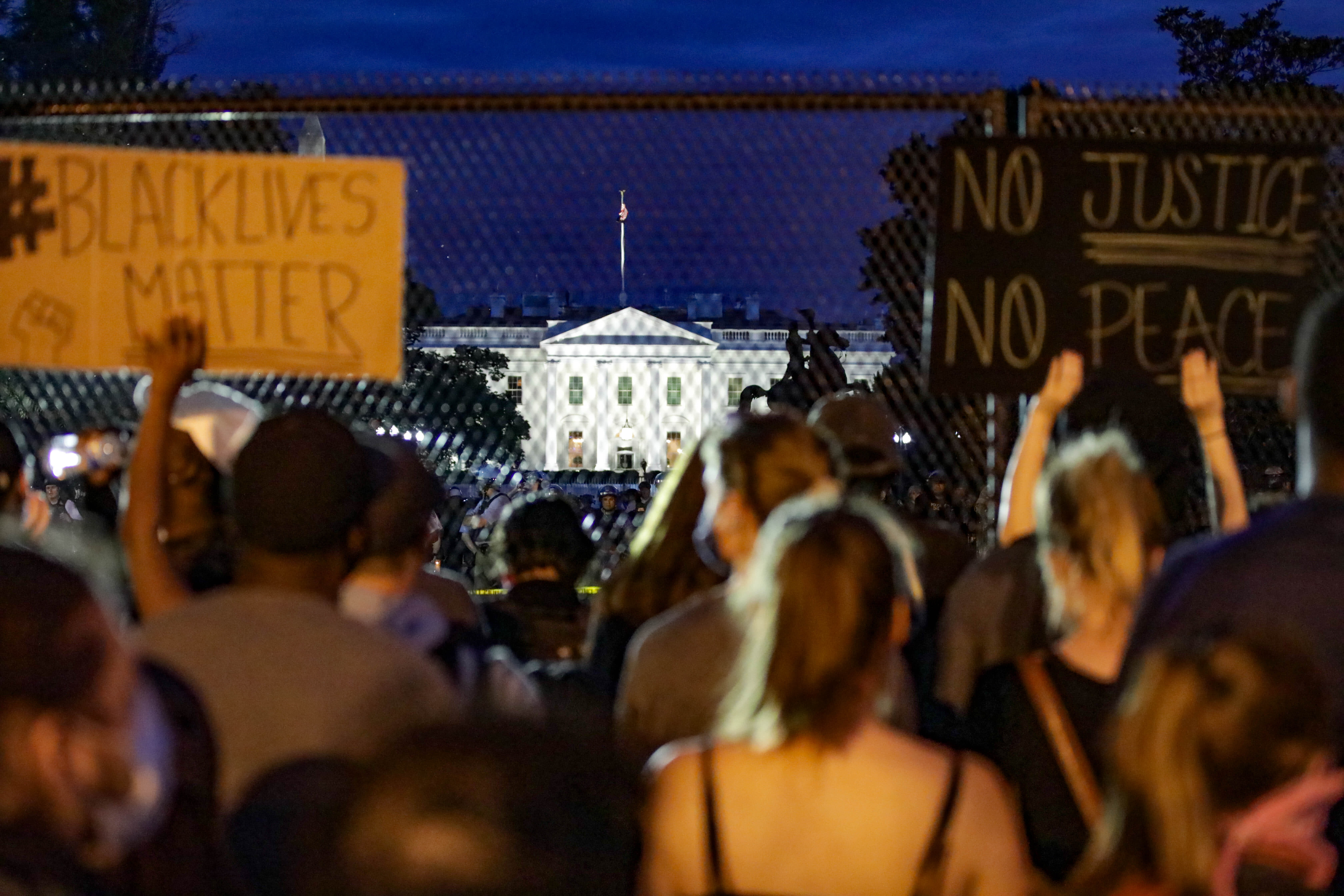 Tensions ease as thousands peacefully demonstrate overnight