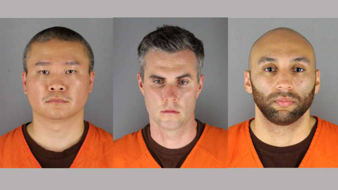 Judge sets bail of up to $1 million for 3 officers in Floyd killing