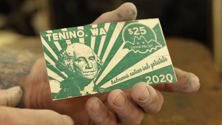 Tenino Wa Uses Wooden Money During Pandemic S Economic Crisis
