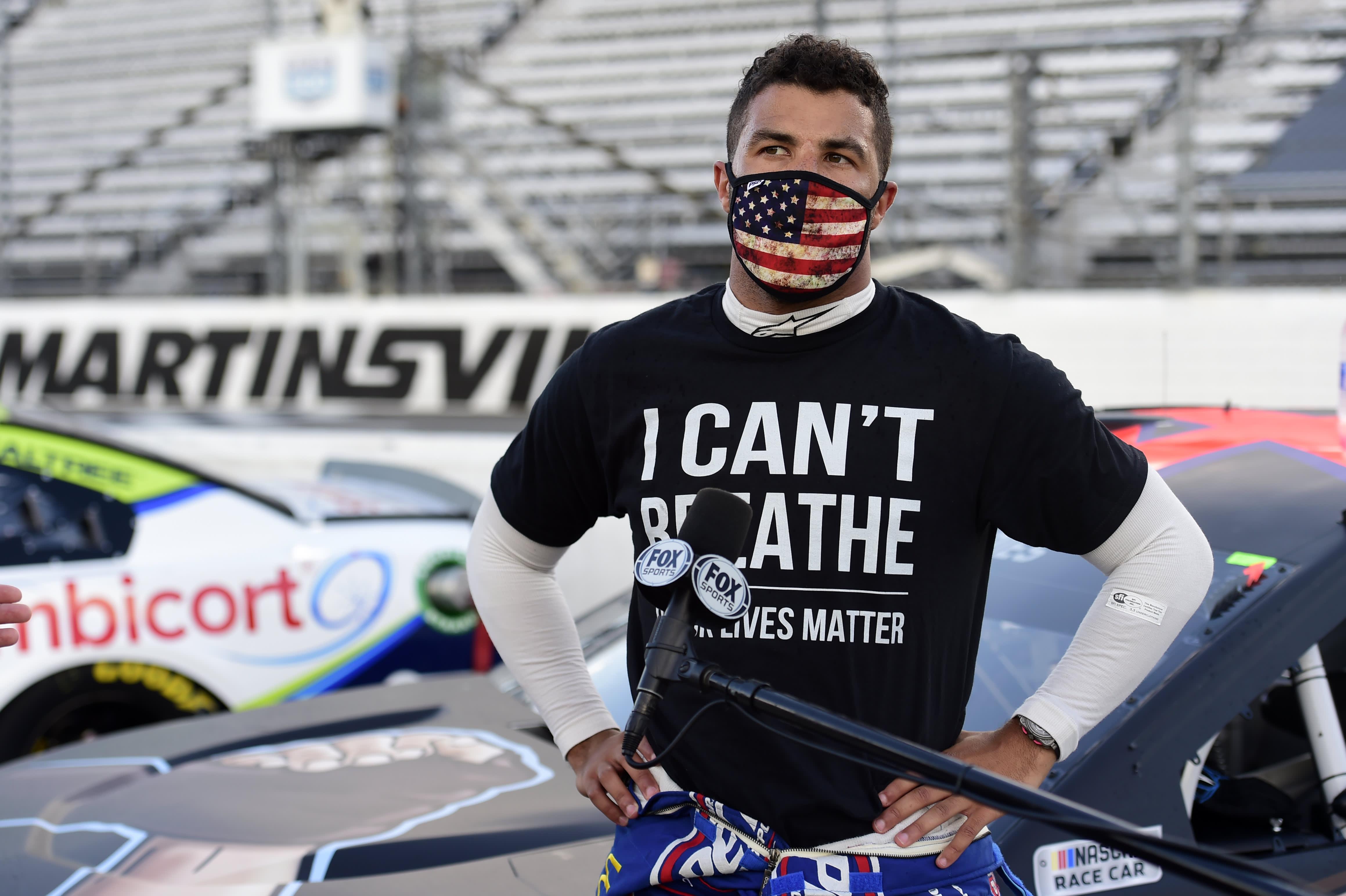 NASCAR का कहना है कि अलबामा के टाल्देगा में दौड़ में बुब्बा वालेस के गेराज स्टॉल में एक नोज पाया गया था