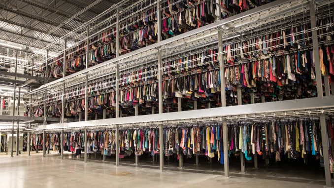 A ThredUp warehouse.