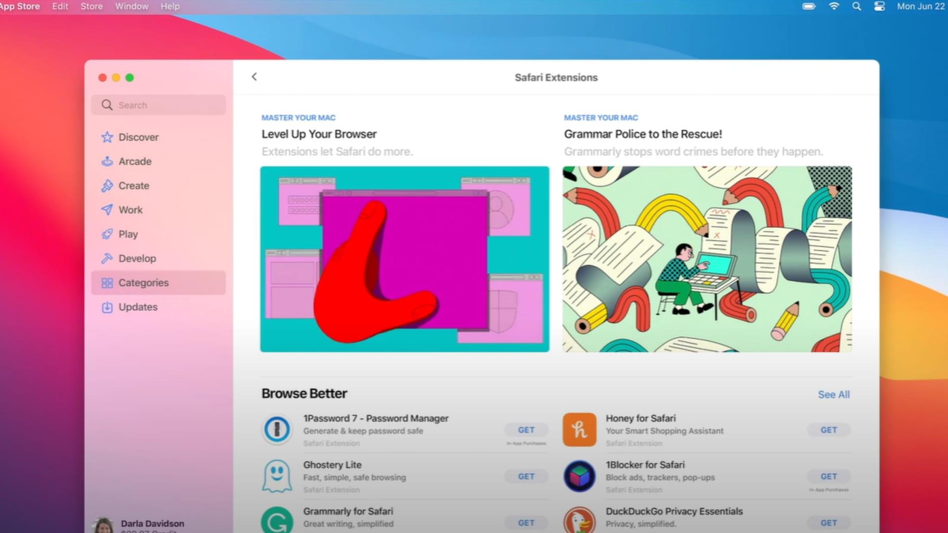 Safari extensions in macOS Big Sur