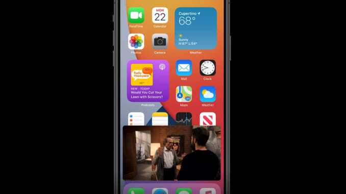 You can watch a movie while doing other things on your iPhone with new picture-in-picture support in iOS 14.