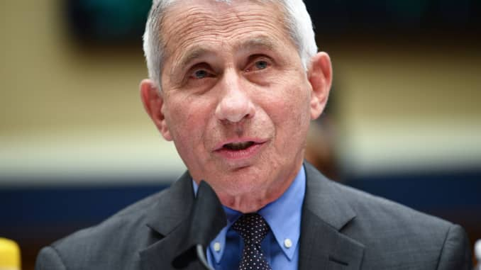 Director of the National Institute for Allergy and Infectious Diseases Dr. Anthony Fauci testifies before the House Committee on Energy and Commerce on the Trump Administration's Response to the COVID-19 Pandemic, on Capitol Hill in Washington, DC, June 2