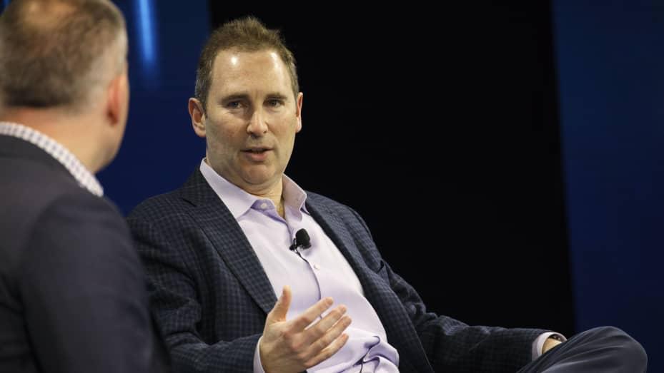 Andy Jassy, CEO Amazon Web Services, berbicara selama Konferensi Teknologi Global WSJDLive di Laguna Beach, California, pada 25 Oktober 2016