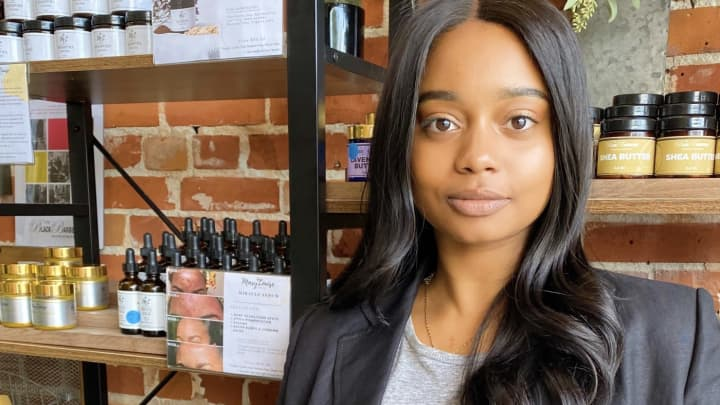 Akilah Releford is the founder and CEO of Mary Louise Cosmetics.