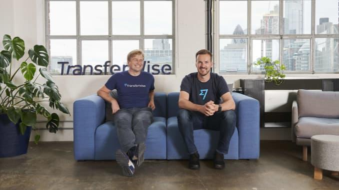 TransferWise co-founders Kristo Käärmann and Taavet Hinrikus.