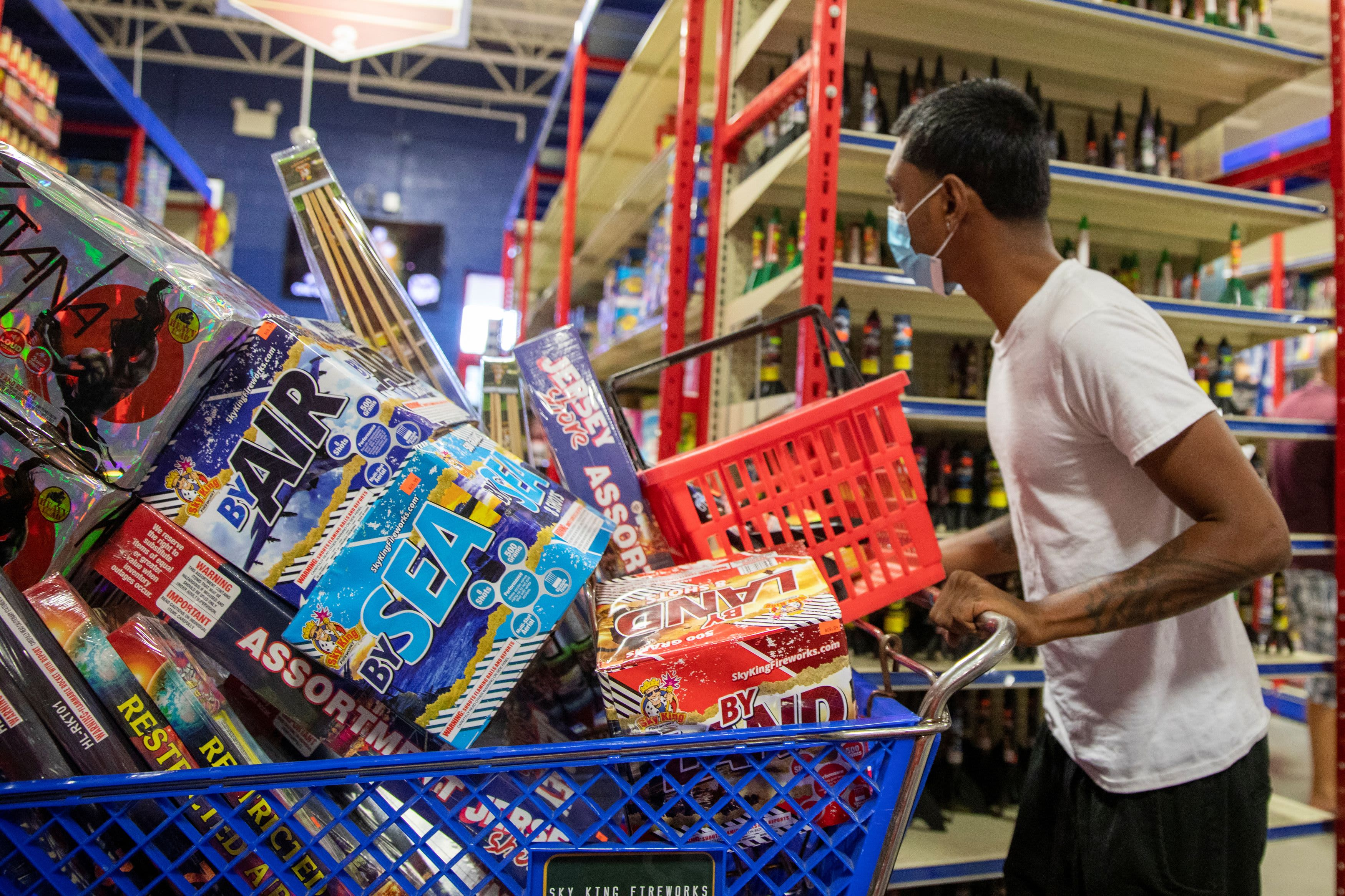 Fourth of July celebrations at home are driving record fireworks sales