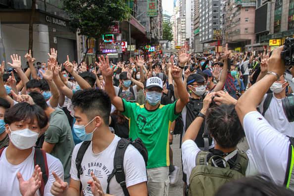 Hundreds arrested in Hong Kong protests, as analysts weigh in on nationwide safety regulation's impression - CNBC thumbnail