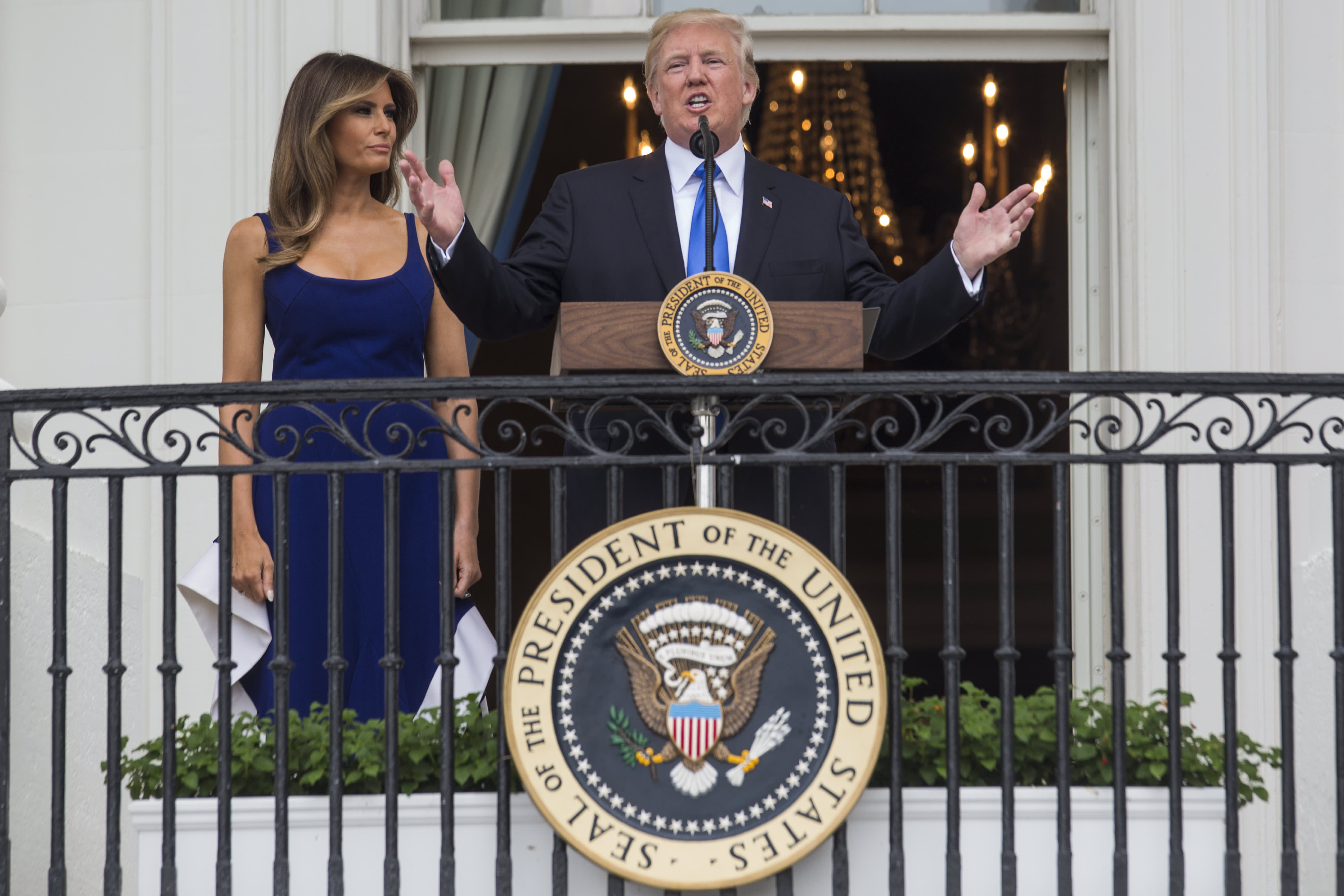 Trump Stokes National Divisions In Fourth Of July Speech