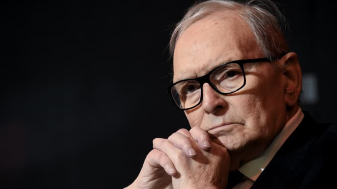 IMG ENNIO MORRICONE, Italian Composer, Orchestrator, Conductor, and Trumpet Player