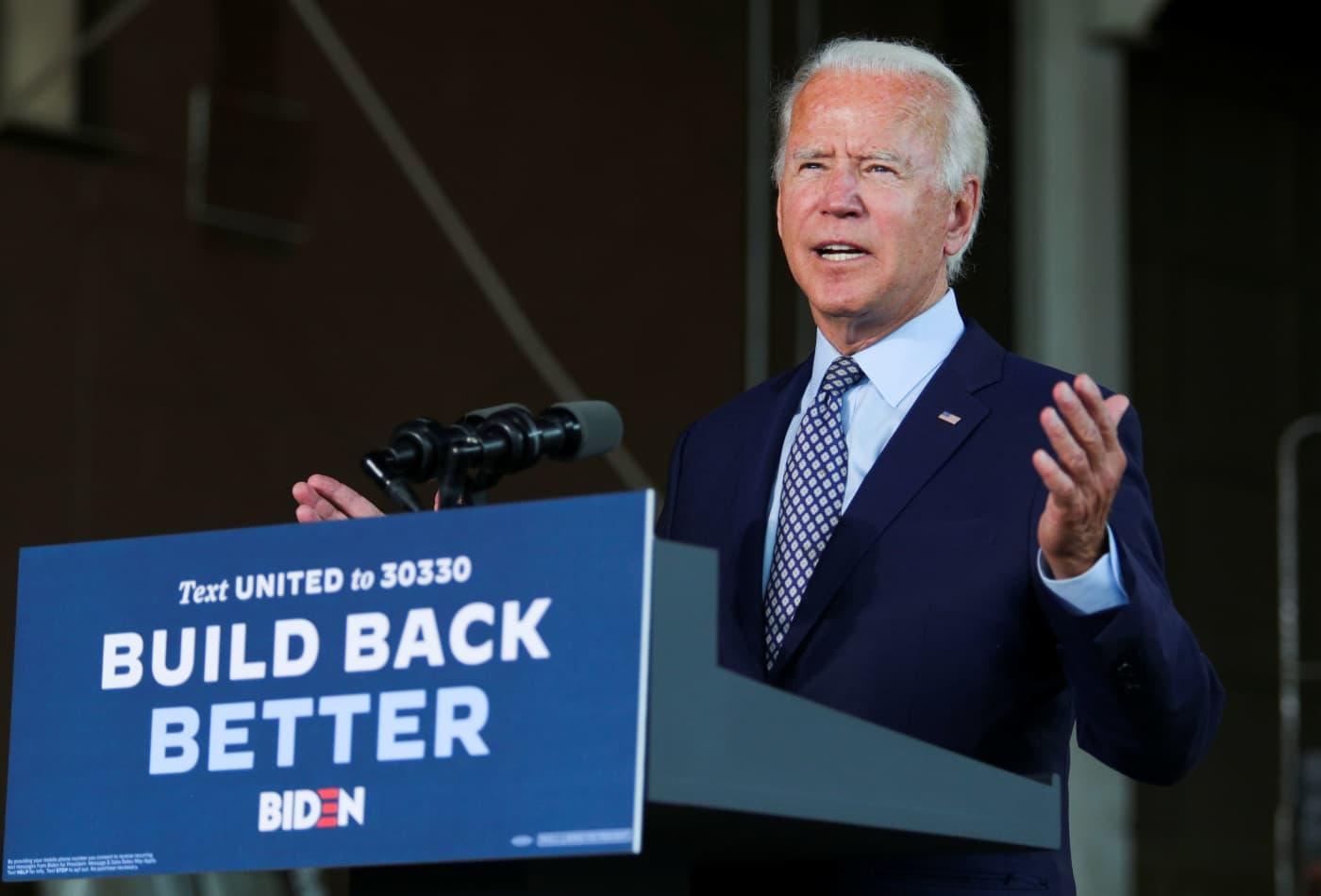 Joe Biden unveils his economic platform as the U.S. faces health and social crises