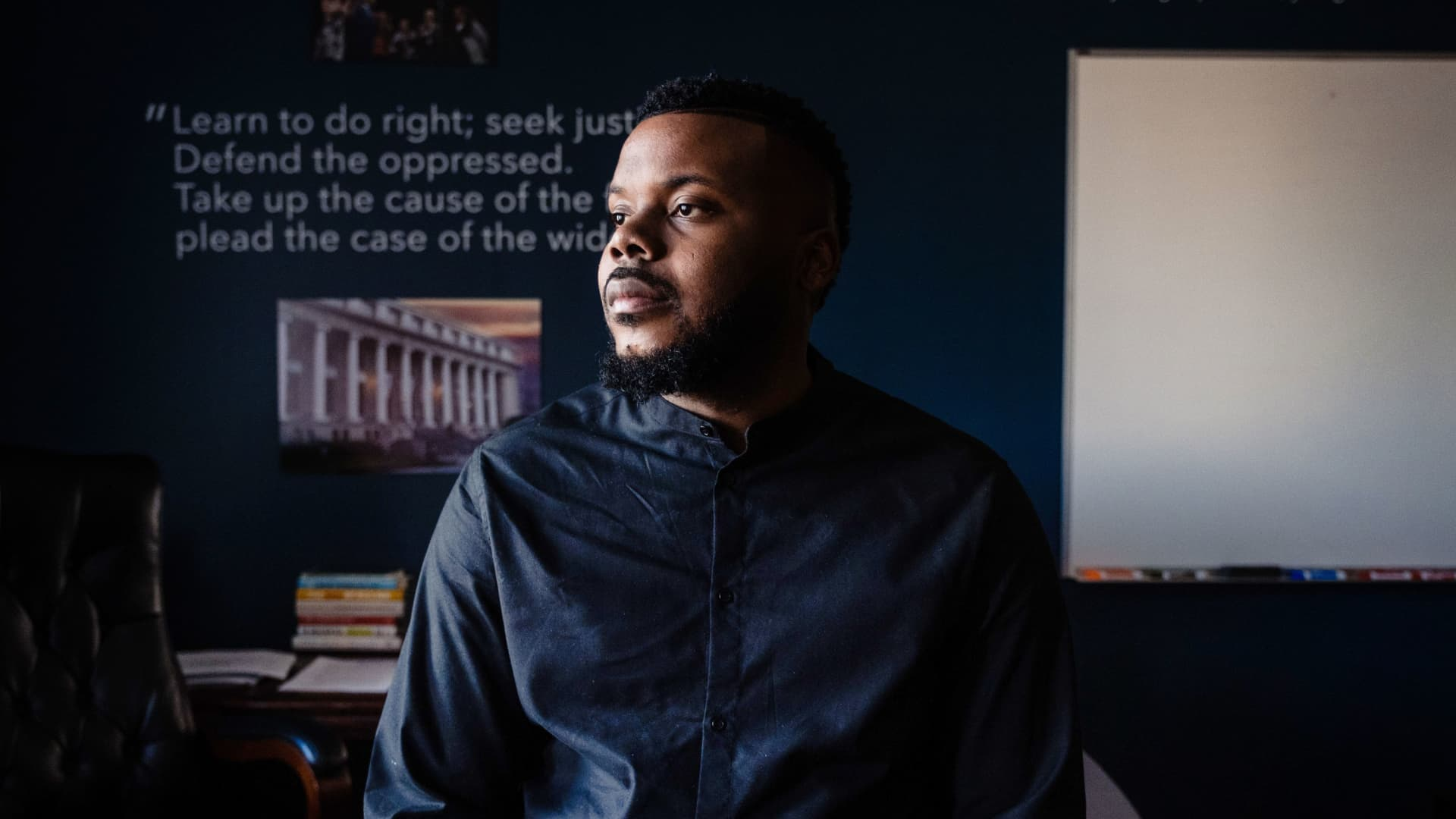 Michael Tubbs, Mayor of Stockton, poses for a photograph at his office in Stockton, California on February 7, 2020.