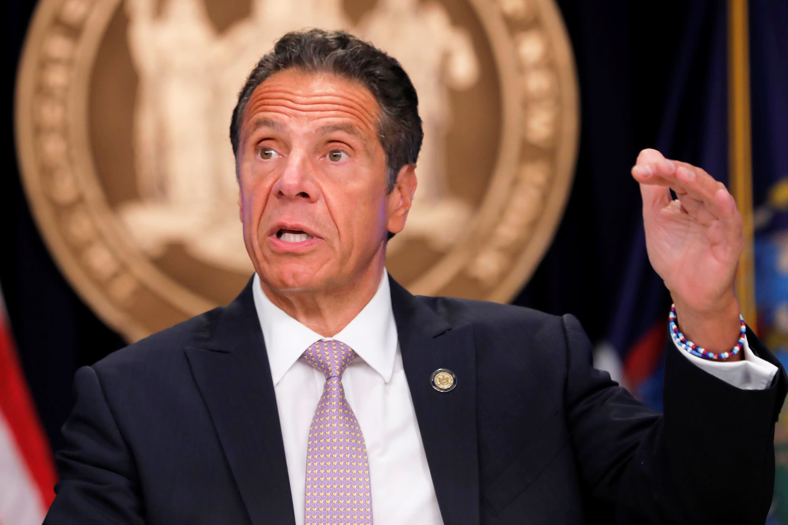 Image of article 'A majority of U.S. states are now on New York's Covid travel restriction list, Cuomo says'