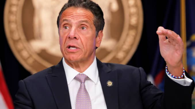 Coronavirus: NY Gov. Cuomo says the NYPD needs to 'step up' in enforcing  social distancing rules