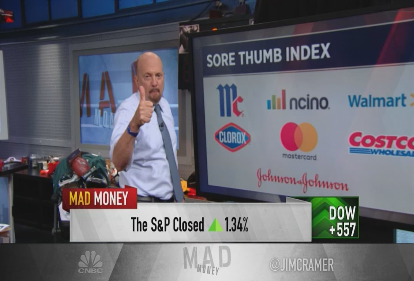 Wall Street did something 'highly unusual' in Tuesday's session, Jim Cramer says