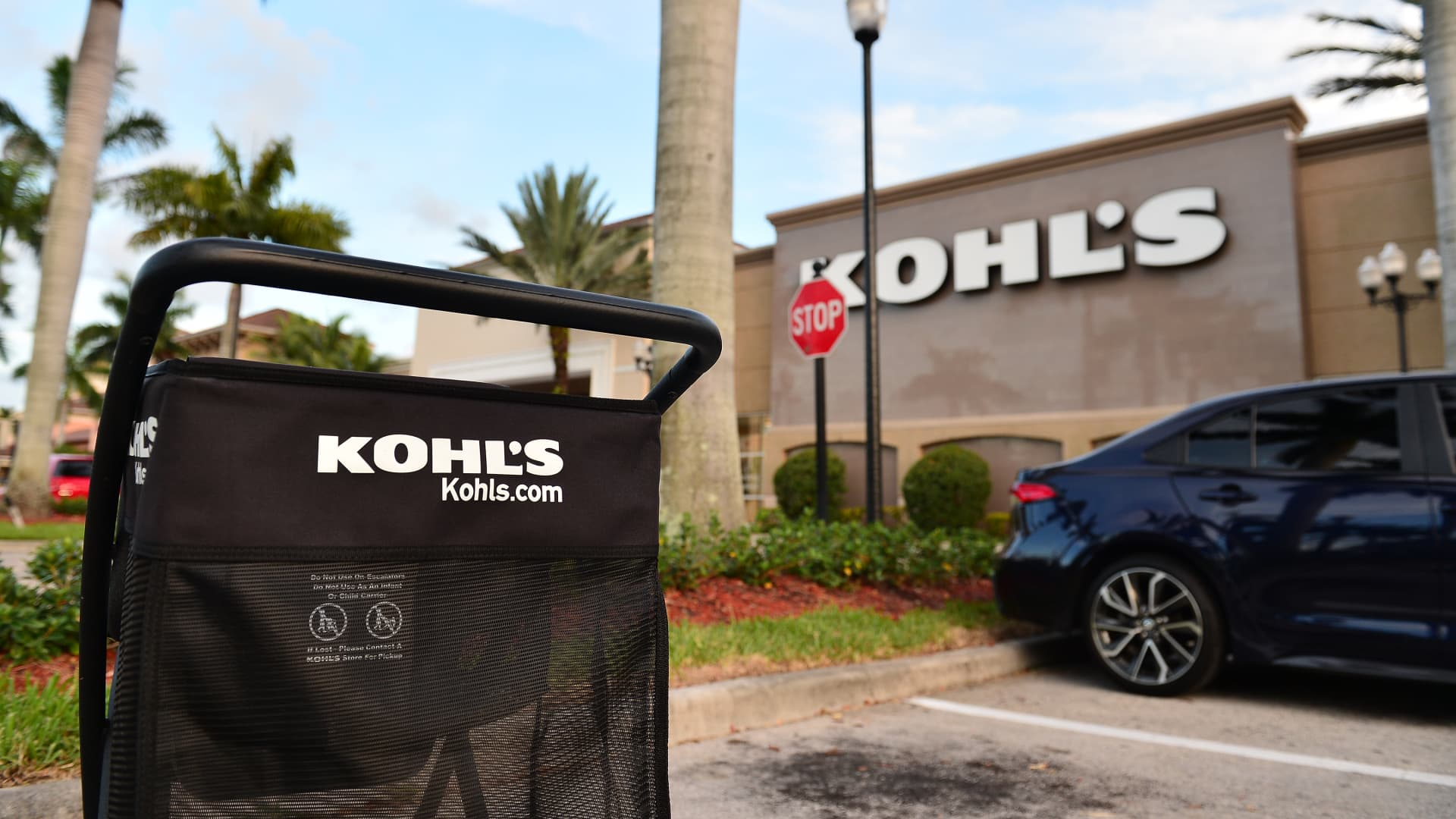 A view outside a Kohl's store in Miramar, Florida.