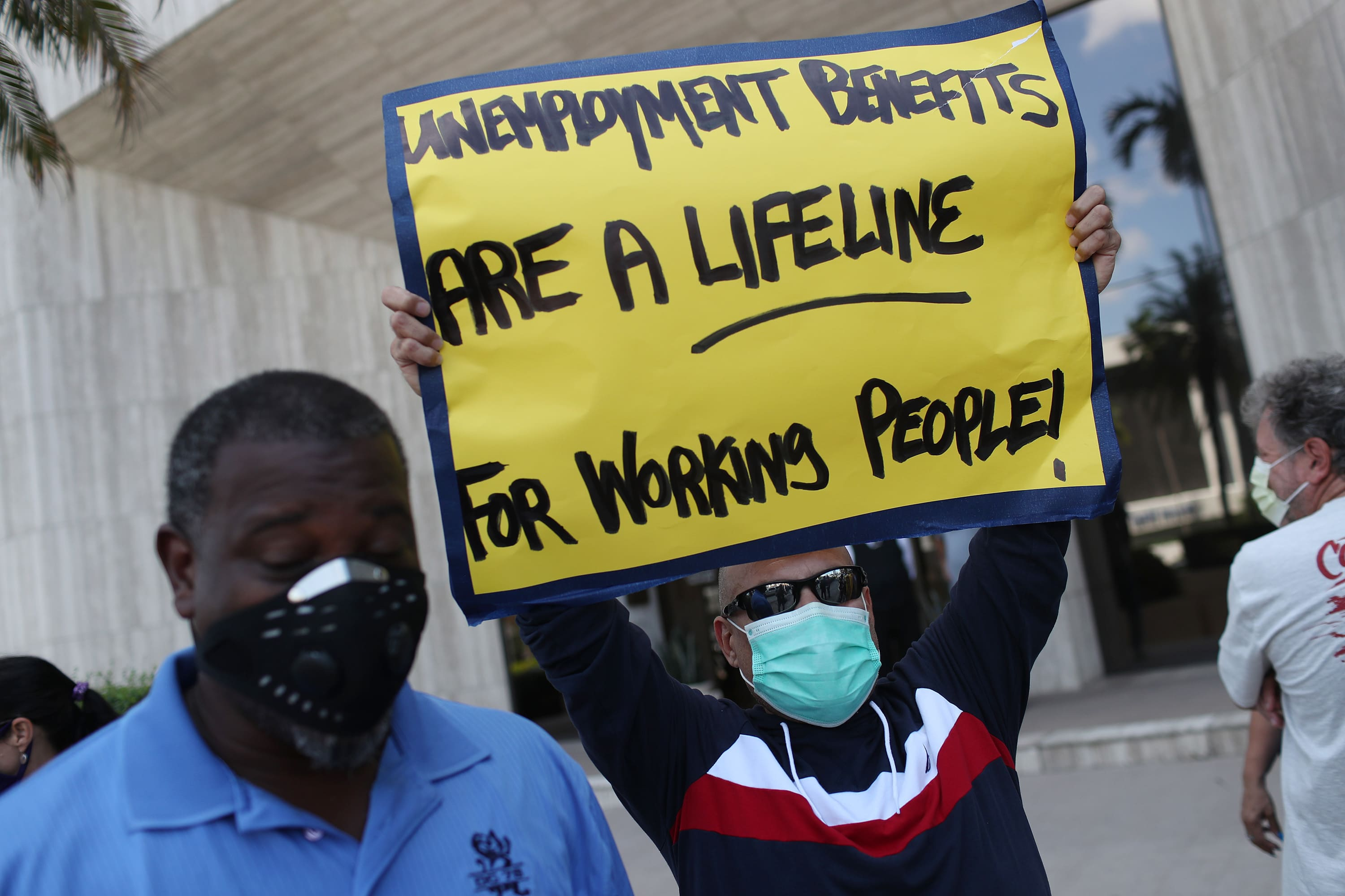 Unemployment benefits are less than minimum wage in many states