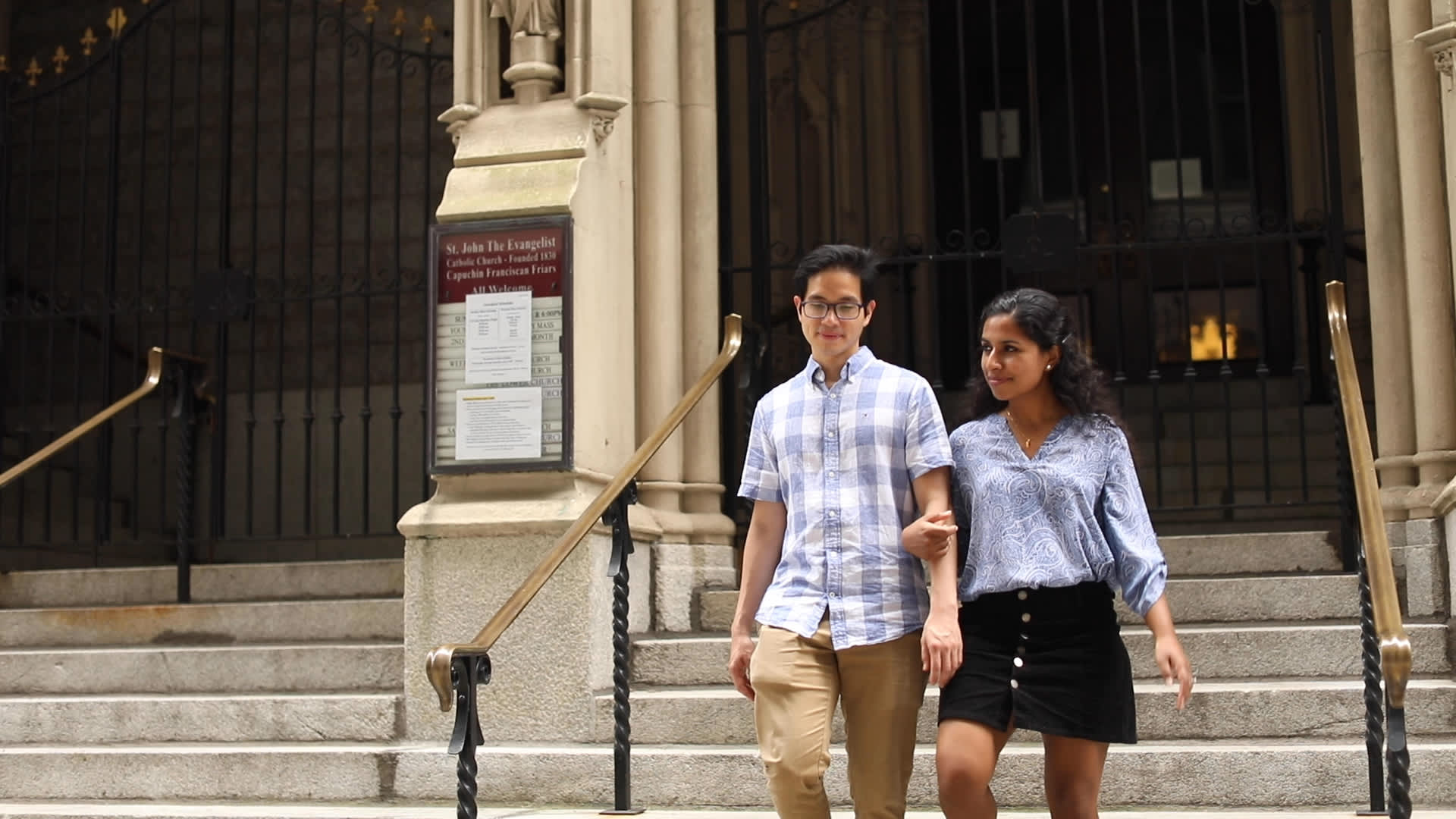Tiu and Chorath share their Catholic faith.