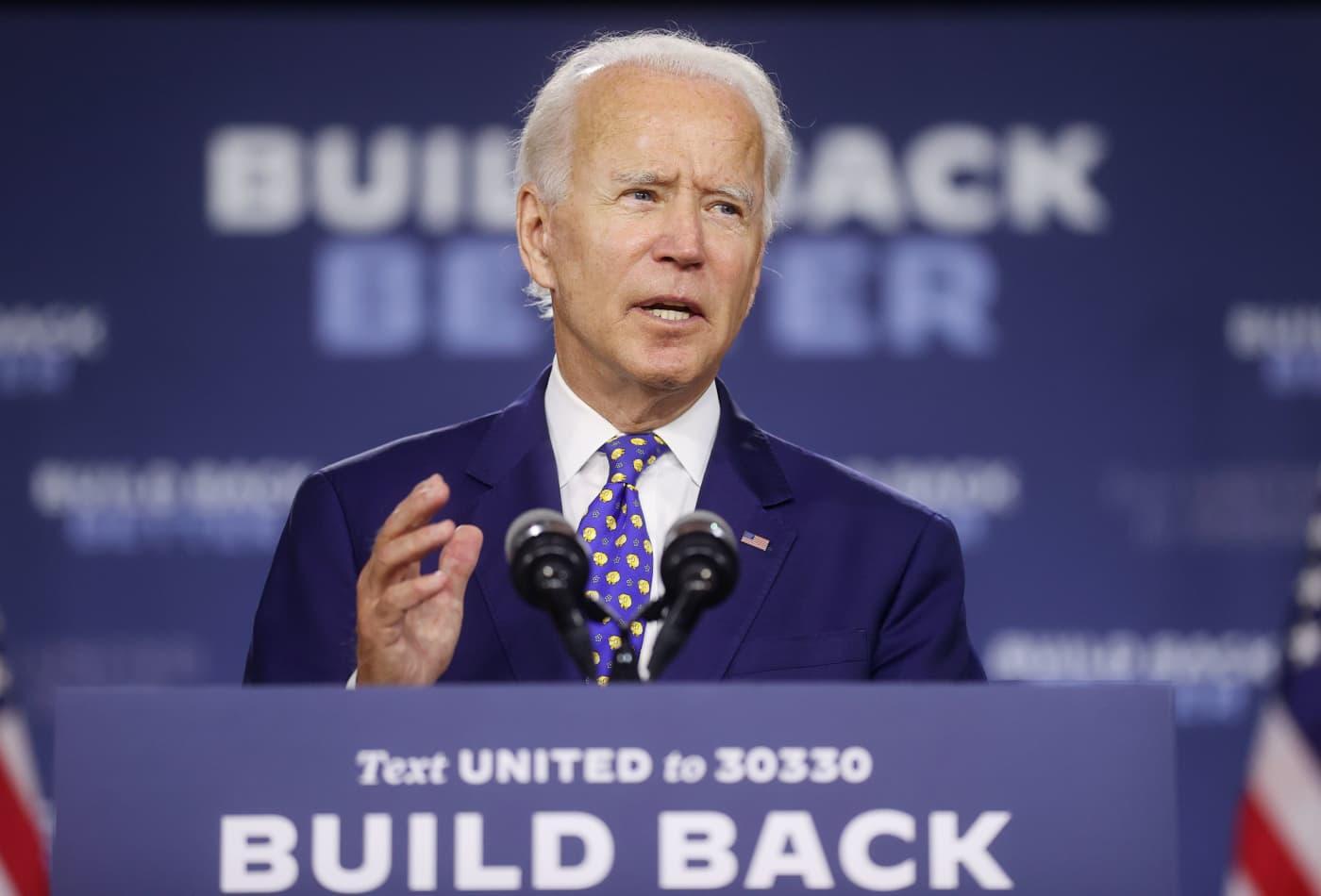 Joe Biden says Trump's failure to lead is responsible for historic economic slump