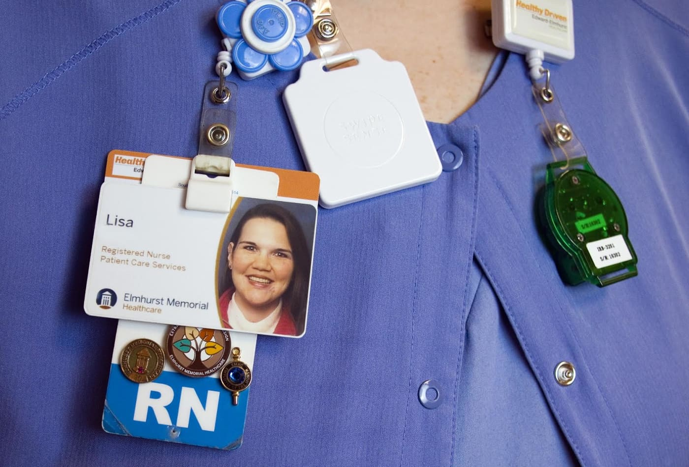 Some hospitals are tracking Covid-19 by adding sensors to employees' badges