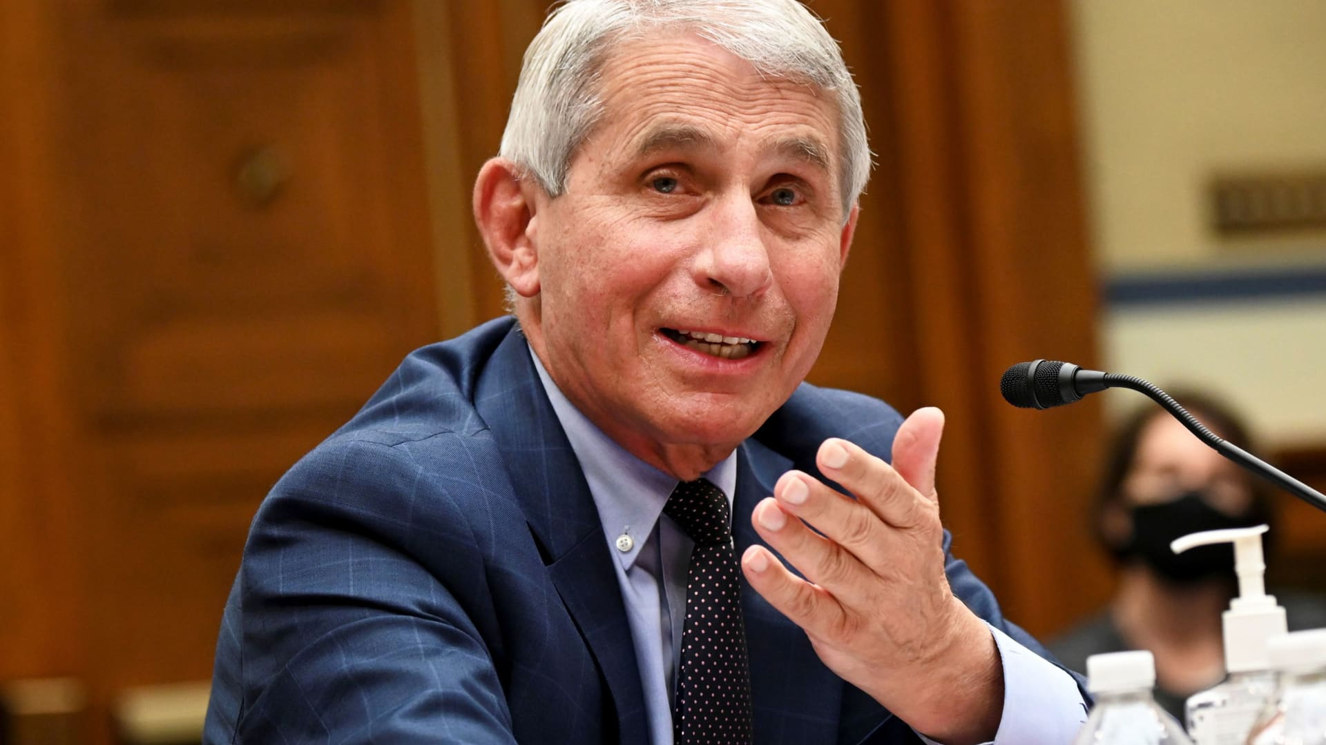 Anthony Fauci, director of the National Institute of Allergy and Infectious Diseases, speaks during a House Select Subcommittee on the Coronavirus Crisis hearing in Washington, D.C.