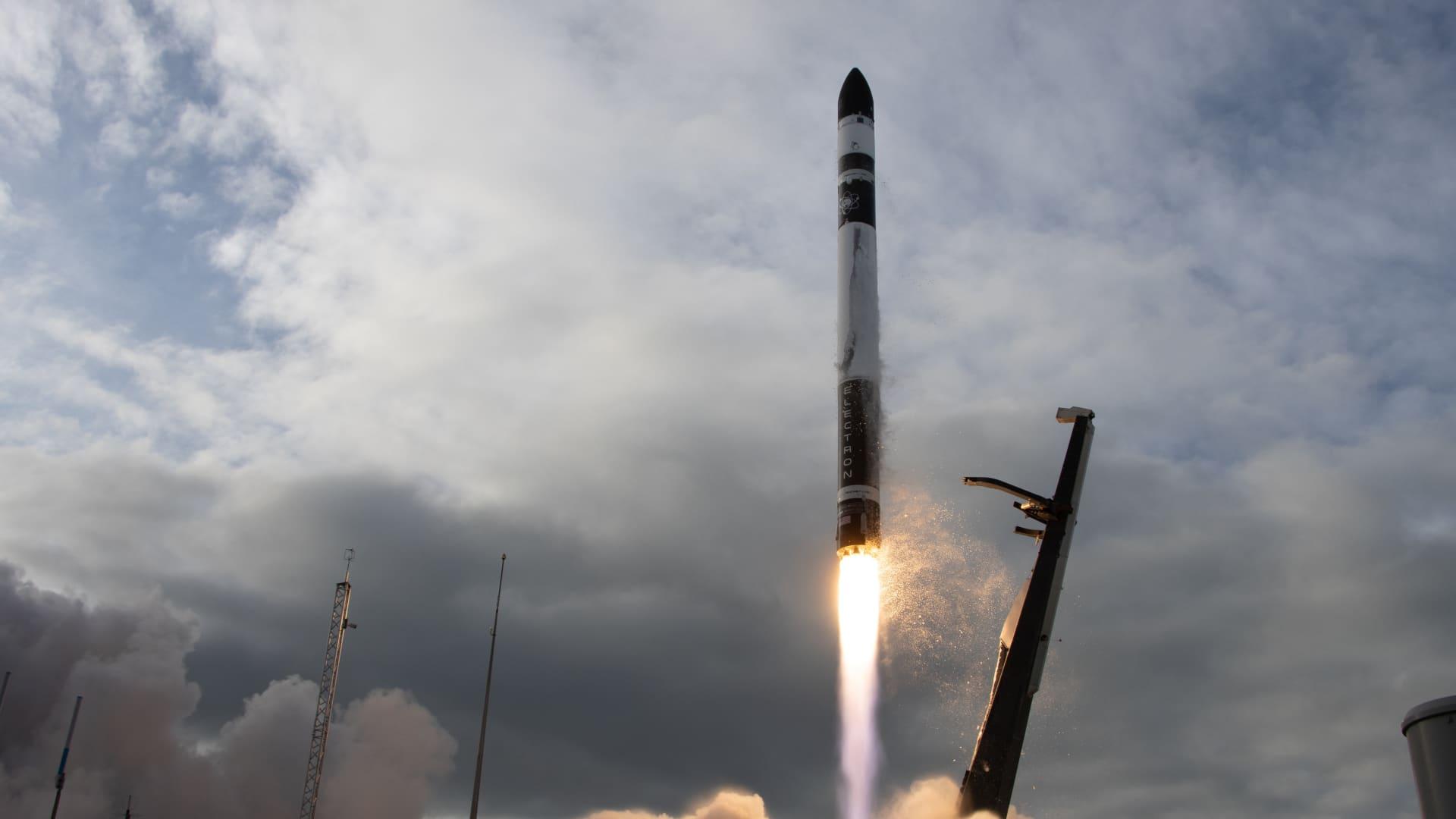 Rocket Lab's Electron rocket lifts off on July 4, 2020.
