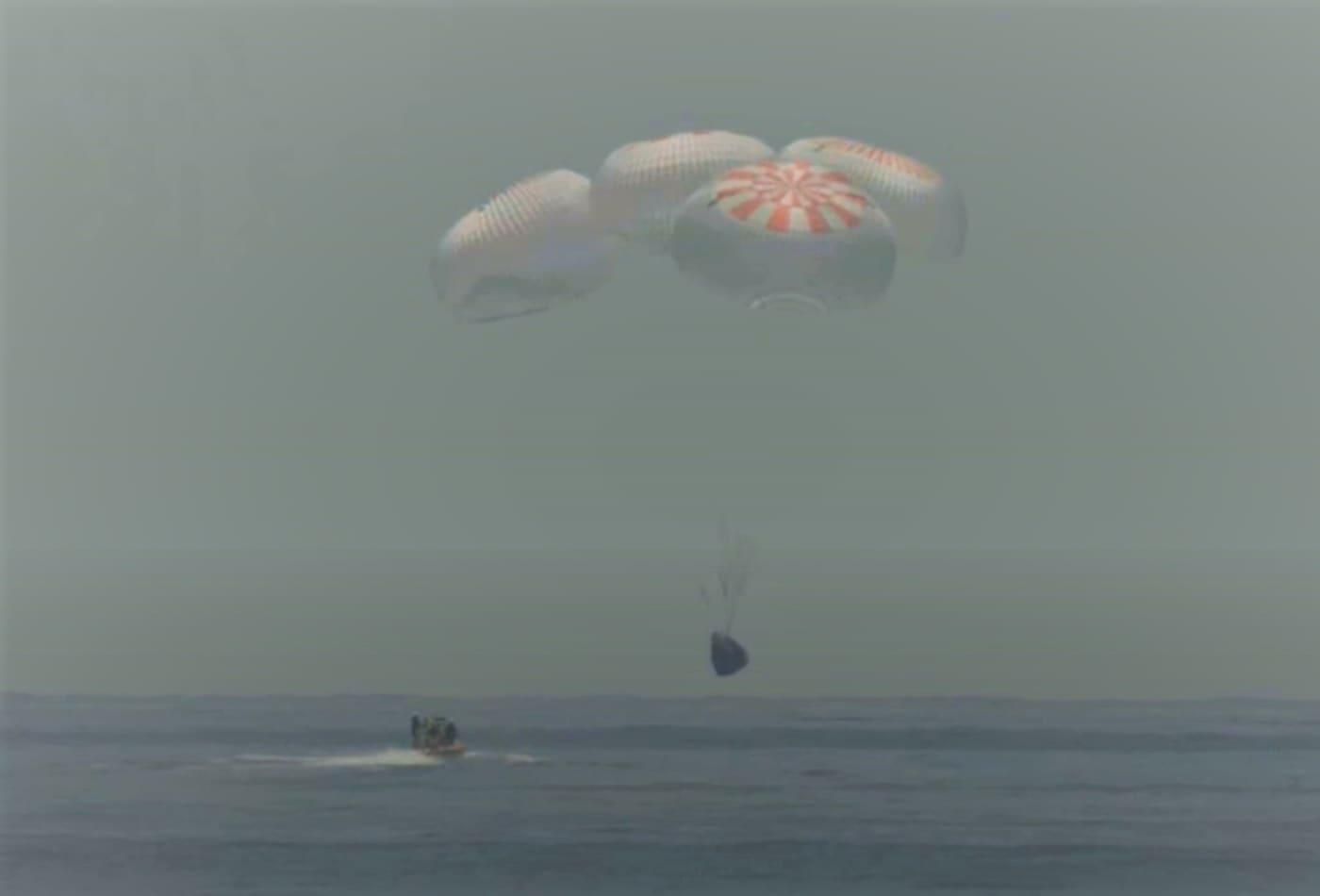 SpaceX's Crew Dragon splashes down in the Gulf of Mexico, completing a historic NASA mission