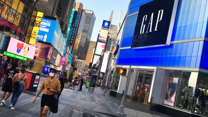 A Gap store in New York, August 2, 2020.