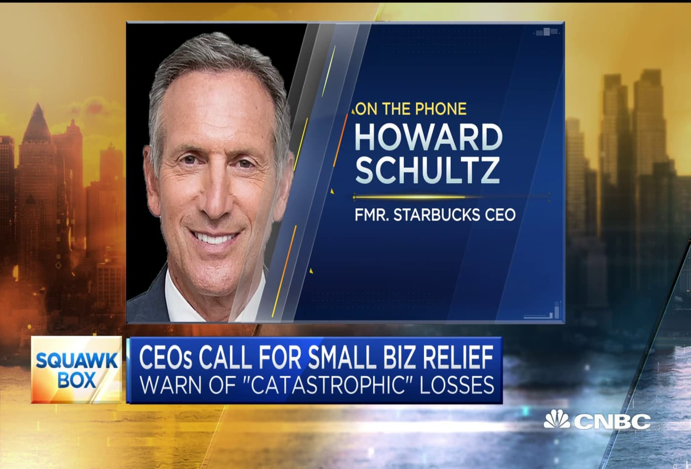 'This is a five alarm emergency' — Former Starbucks CEO Howard Schultz calls for more small business relief