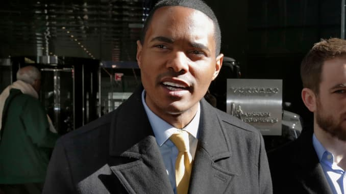 In this, March 19, 2018, file photo, New York City Council Member Ritchie Torres addresses a news conference in New York.