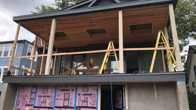 Jason Sullivan's home under renovation in Washington DC