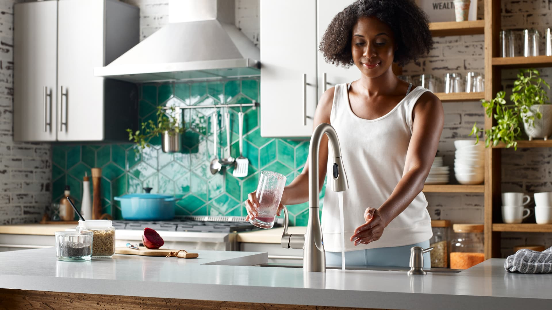 Moen touchless faucets are among the clean home tech innovations that while not specifically created for Covid-19, have added appeal now.